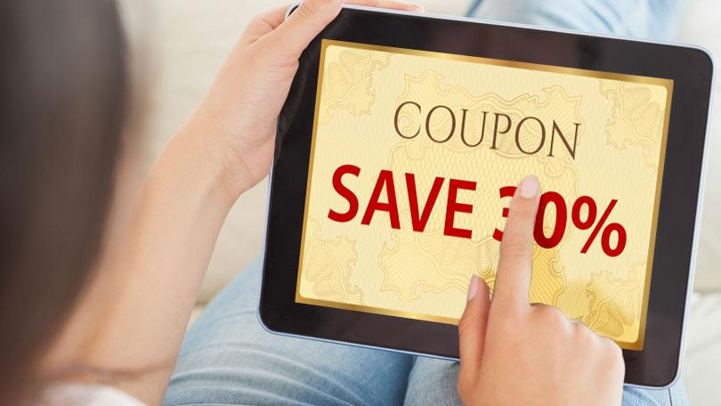Grocery shopping coupons online!